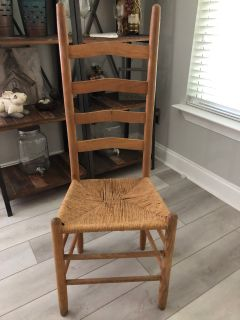 Vintage Wooden Ladderback Chair