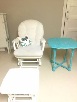 Antique turquiose painted side table