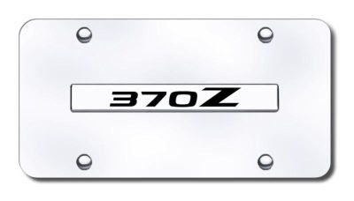 Find Nissan 370Z Name Chrome on Chrome License Plate Made in USA Genuine motorcycle in San Tan Valley, Arizona, US, for US $29.87