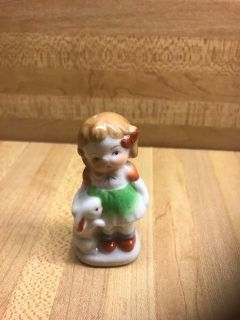 Vintage Girl with Bunny Figurine made in occupied Japan