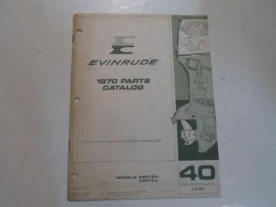 Purchase 1970 Evinrude 40 HP LARK 40072A 40073A Parts Catalog Manual STAINED FACTORY OEM motorcycle in Sterling Heights, Michigan, United States, for US $10.99