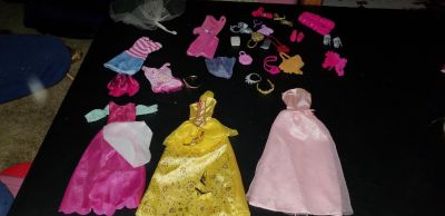 Barbie dresses shoes and accessories