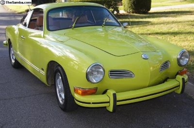 1974 Karmann Ghia 4 sp manual original RAVENNA GRN