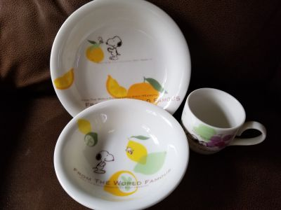 3 piece Snoopy lunch/ breakfast set , I deliver to Sarnia,Brights Grove and Petrolia on Tuesdays