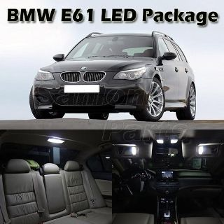 Purchase White Error Free LED Interior Light Bulb Package for BMW E61 Touring 2004-2010 motorcycle in Cupertino, CA, US, for US $36.99