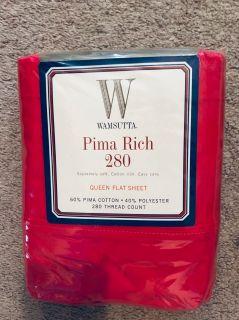 BRAND NEW Wamsutta queen flat sheet