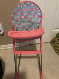 Baby Doll High Chair w/ removable tray.