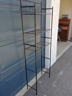 Bronze colored shelving rack