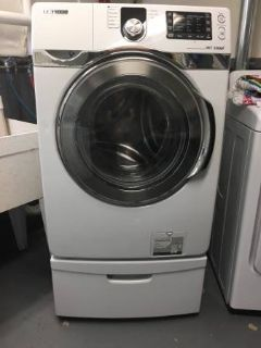 Samsung front loading washer with pedastal