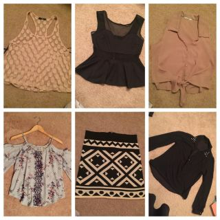 Lot Blouses and skirt (all size small)