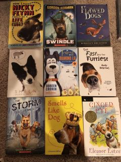 Set of 9 dog themed chapter books
