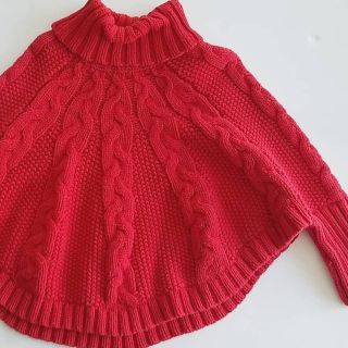 Toddler winter poncho sweater