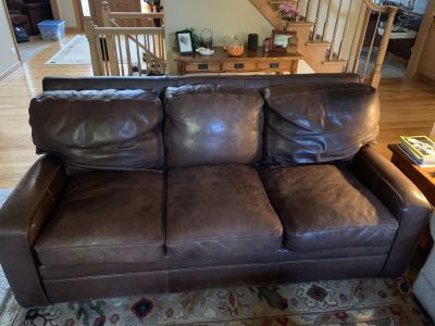 Thomas Bain Italian Leather Couch