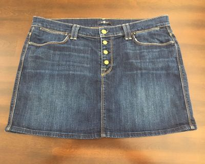 Seven (7) for all mankind jean skirt