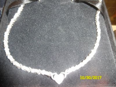 Sterling Silver w Diamond Necklace