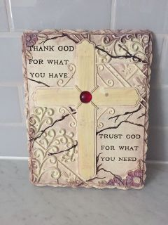 Thank God wall hanging