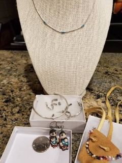 Vintage Sterling Silver jewelry and Native American items