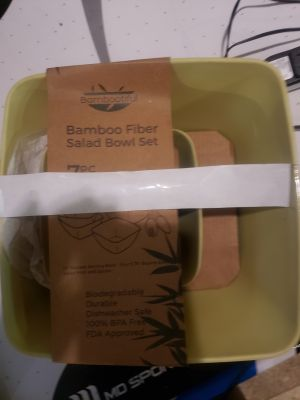 BAMBOO salad bowl set