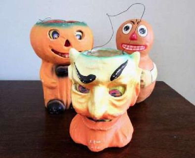 Vintage Halloween Paper Mache items