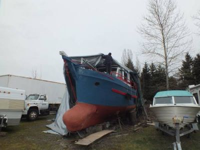 40ft  wood gillnetter partial conversion