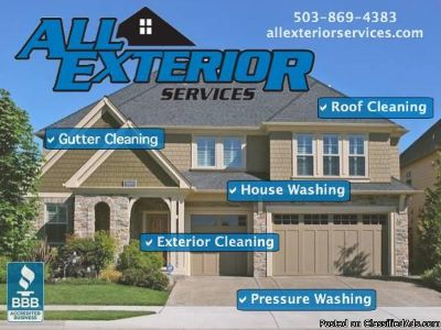 Pressure Washing, Soft Washing & Gutter Cleaning Services