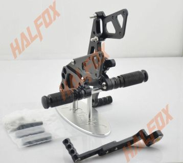 Find Black CNC Rearset Foot Pegs Rearsets For Suzuki GSX-R 1000 K9 2009 10 11 12 motorcycle in Gibsonton, Florida, US, for US $154.99