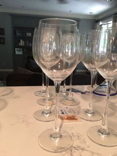 Lenox white wine glasses