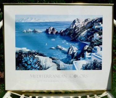 "Howard Behrens ""Mediterranean Colors"" Framed Print"