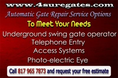Automatic Gate Repair Service Options