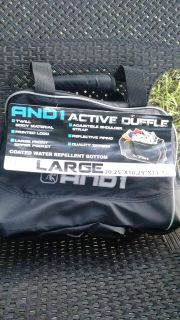 """New with Tags: AND1 Active Duffle Gym Bag - 20.25""""x10.25""""x11.25"""" - Black/Silver -> $12."""
