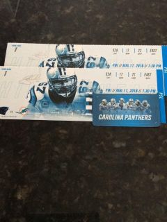 2 tickets for Panthers vs Miami
