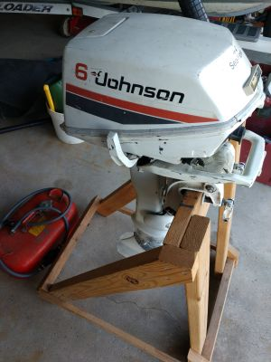 Outboard Johnson motor. 6 hp.