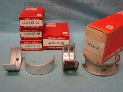 Buy 1955 56 57 58 59 60 61 62 Chevy 235 261 Impala Bel Air Main Bearing Set 020 6cyl motorcycle in Vinton, Virginia, United States, for US $140.00