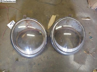 Early Kafer vw headlight buckets