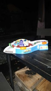 Vtech turntable and 3 talking cars