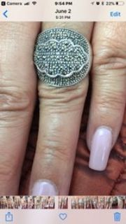 Marcasite Ring Size 8