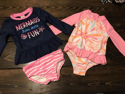 Baby girl size 6-9months bathing suits