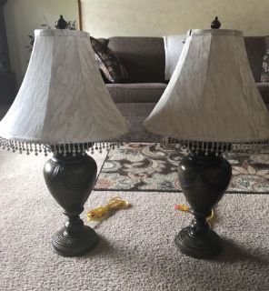Pair of 3-Way Table Lamps