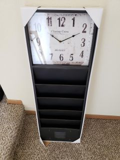 Office clock and wall organizer