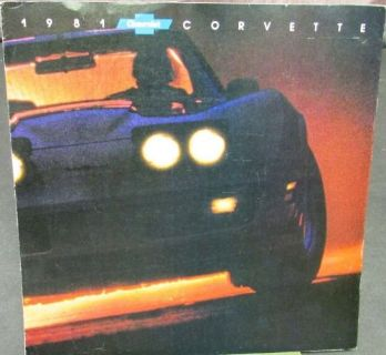 Find Original 1981 Chevrolet Corvette Dealer Sales Brochure motorcycle in Holts Summit, Missouri, United States, for US $14.81