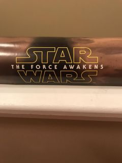 Star Wars the force awakens poster.