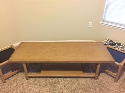 $110, Coffee table with two end tables