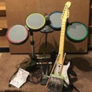 Rock Band Xbox 360 Drums, guitar, mic, game