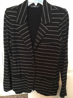 Black and gray stripe blazer/jacket sz med