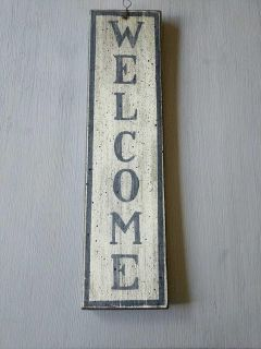 Two sided welcome/gonw fishing sign