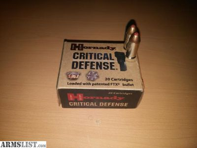 For Sale: 22rnds 40S&W 165gr Hornady Critical Defense