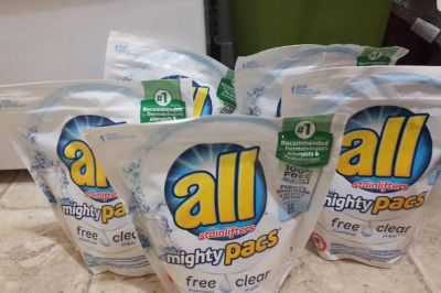 5 All pacs laundry detergent, total of 110