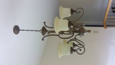 Brown /antique bronze 5 light pendant chandelier $50 OBO