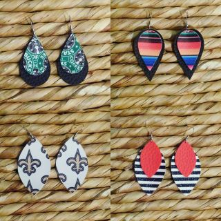 Possibilities are endless! Faux leather earrings!