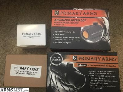 For Sale: Primary arms micro red dot and magnifier